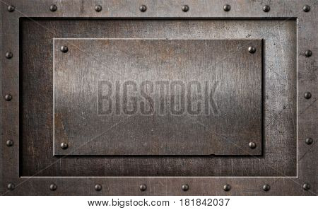 old metal rusty or rustic frame background 3d illustration