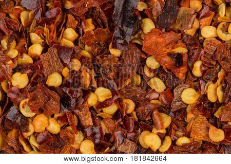 Pile Of A Crushed Red Pepper