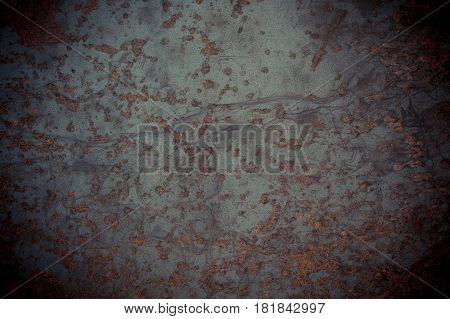 Old Rusty Metal Plate Texture