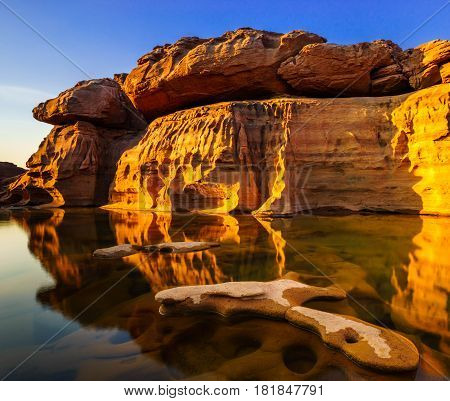Sam Pan Bok Grand Canyon Ubon Ratchathani Thailand