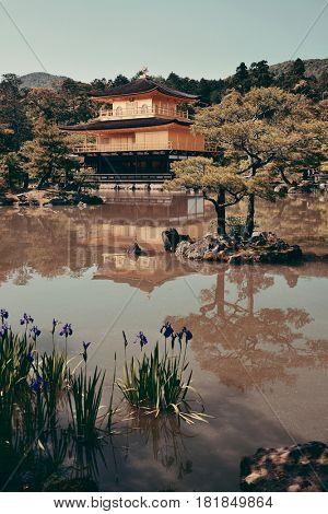 Kinkaku-ji temple with historical building in Kyoto, Japan.