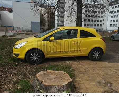 Yellow Seat Ibiza Car In Leipzig