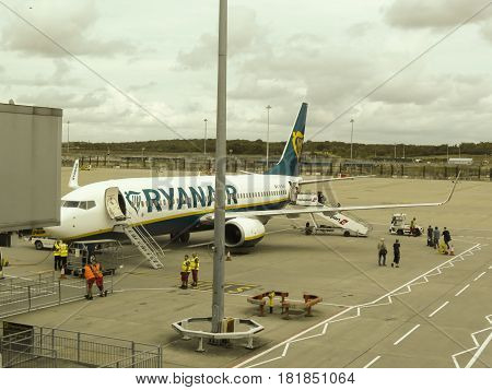 Ryanair Boeing 737-800 Parked In Stansted