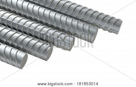 Reinforcing steel. 3d Illustration on white background