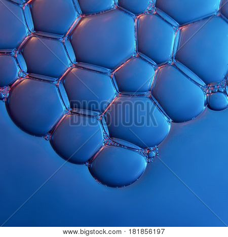 foam texture soap bubbles on the water abstract background