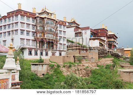 Sichuan, China - Jul 15 2014: Ganzi Temple. A Famous Lamasery In Ganzi, Sichuan, China.
