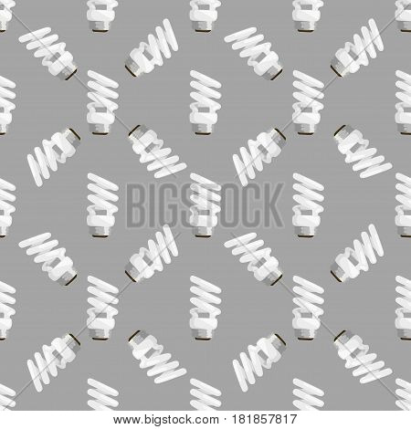 Background light bulbs seamless pattern. Cartoon lamps light bulb electricity design lamp flat vector illustration. Collection of bulbs sign of brainstorm and notification.