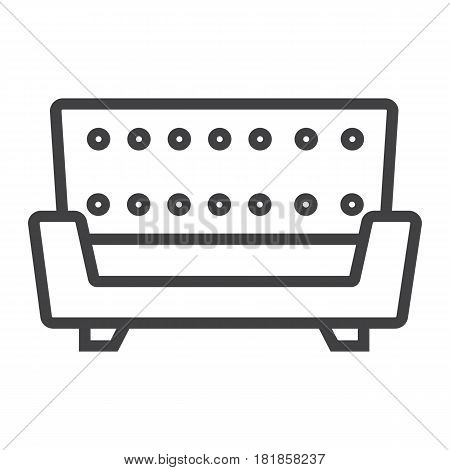 Sofa line icon, Furniture and interior element, couch vector graphics, a linear pattern on a white background, eps 10.