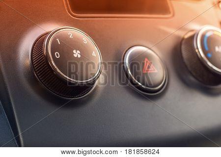 adjustment knob air supply into the vehicle interior