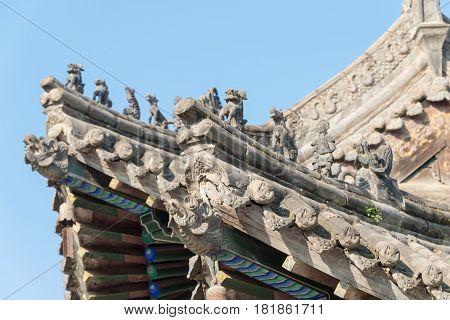 Xian, China - Oct 26 2014: The Chongyang Palace. A Famous Temple In Xian, Shaanxi, China.
