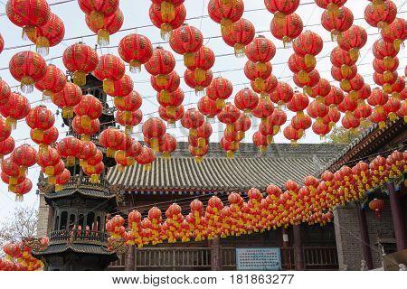 Xian, China - Nov 11 2014: Zizhulin At South Mount Wutai(nanwutai). A Famous Landscape In Xian, Shaa