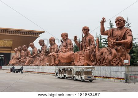 Shaanxi, China - Oct 27 2014: Famen Temple. A Famous Temple In Fufeng County, Shaanxi, China.
