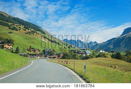 Idyllic Tourist Destination St Antonien, Switzerland