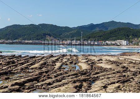 Devil's Washboard Coastline In Aoshima Island, Miyazaki, Japan