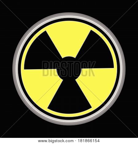 nuclear logo and earth in logo icon black background
