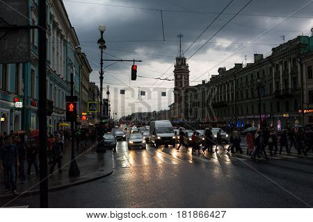 White Night, Night Traffic On Nevsky Prospect