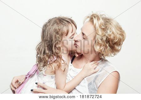 Mother and daughter. Studio photoshoot. Family Shoot