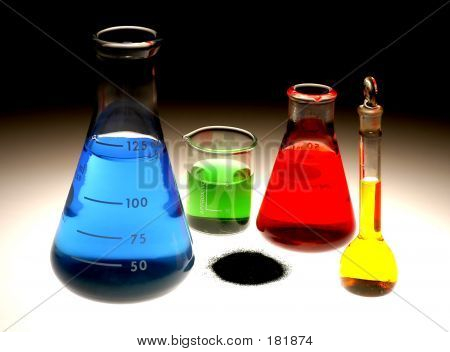 Chemical Flasks & Powder