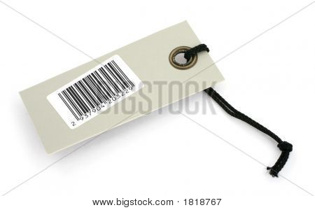 Price Tag With Bar Code