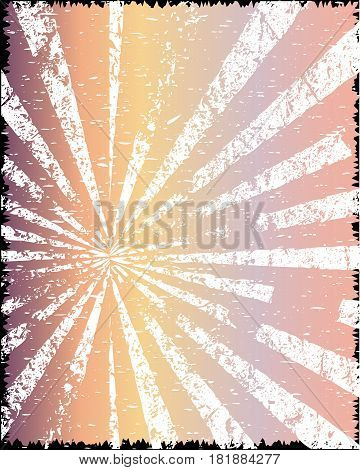 A jazz grunge venue poster of pastel and grunge white rays