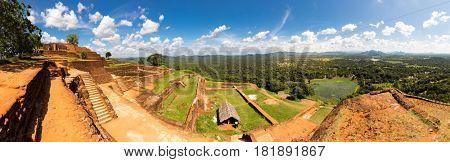 Sigiriya Sri Lanka, buddhist temple, panorama view