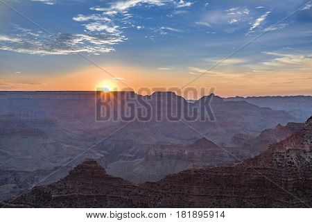 View Into The Grand Canyon From Yaki Point, South Rim