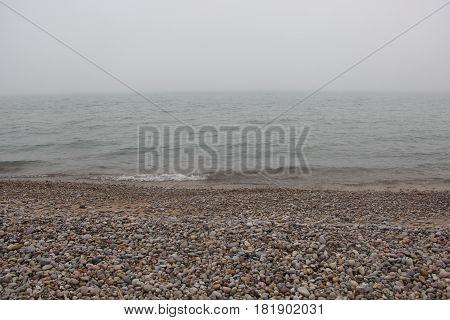 Waves lapping on the shore of Sleeping Bear Dunes National Lakeshore, Michigan