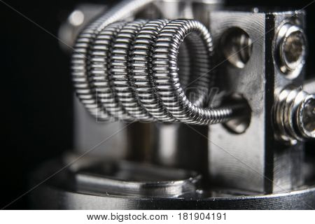 close up vape clapton coil for e cig.
