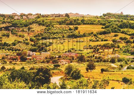 Beautiful landscape of Massa Marittima area, Province of Grosseto, Tuscany, Italy