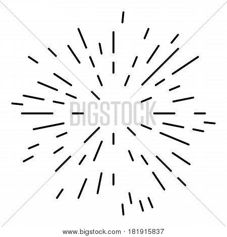 Starburst or Sunburst Abstract Design Element. Vector illustration isolated on white.