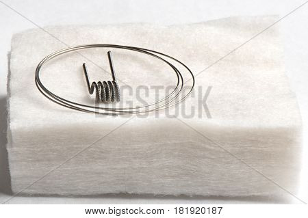 Fuse And Wire On A Cotton, White Background, Closeup, Isolated