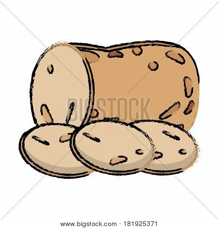 potato slice food diet healthy vector illsutration eps 10