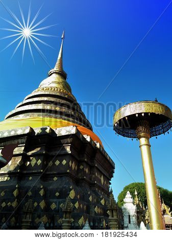 Wat Phra That Lampang Luang and most significant temple Lampang Thailand
