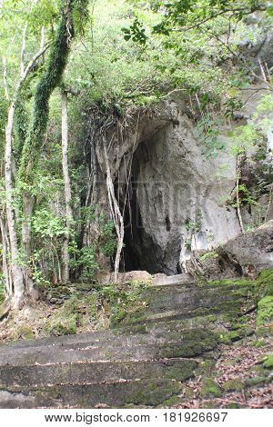 Tonga Cave, Rota, Northern Mariana Islands Tonga cave in Songsong was turned into a hospital by the Japanese during World War 11. It used to be the home of the Little Marianas fruit bats and as a shelter for typhoons by the residents of the island.
