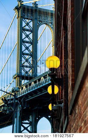 Manhattan Bridge The Blue Shade, New York