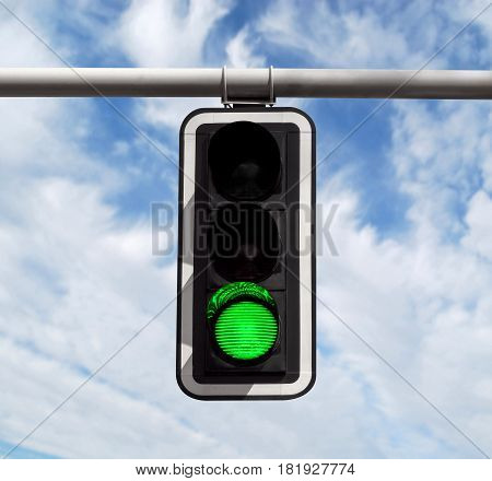 Traffic Light - Green Against Sky