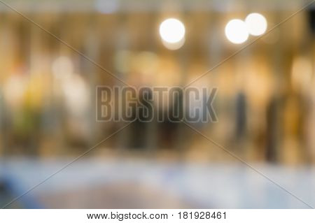 Blur background of department store shopping mall background