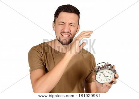 Man With Alarm Clock.
