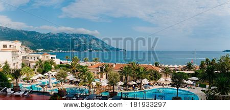 Hotel Splendid in Budva, Montenegro. A chic hotel for the rich in the Balkans, the Adriatic Sea.