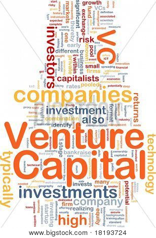 Background concept wordcloud illustration of venture capital