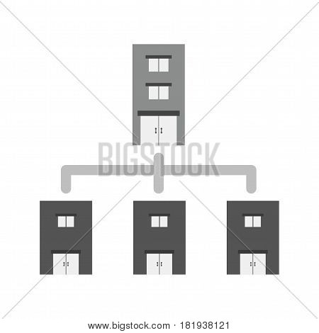 Network, technology, organization icon vector image. Can also be used for business administration. Suitable for use on web apps, mobile apps and print media.