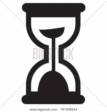 Sand Glass Clock Icon Hourglass Vector Symbol Timer Sand