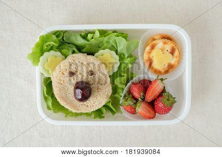 Koala Bear Lunch Box, Fun Food Art For Kids