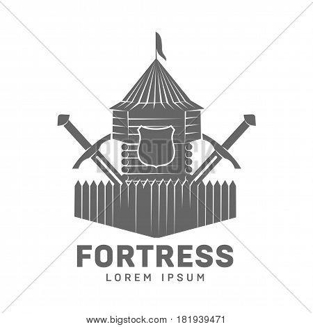 Abstract Vector Fortress Label