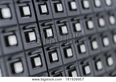 Outdoor modular LED panels as a decoration on the stage.