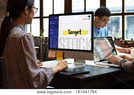 Business Note Target Mission Concept