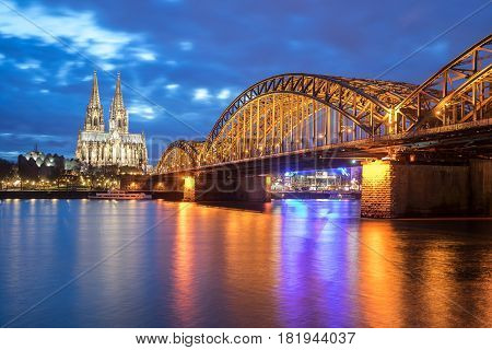 View Of Cologne Cathedral In Cologne, Germany