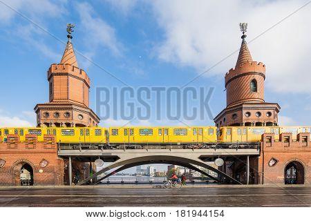 The Oberbaum Bridge Landmark Of Berlin City In Germany