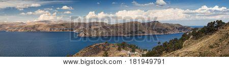 Panorama of the Lake Titicaca, Altiplano,  Bolivia