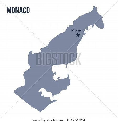 Vector map of Monaco isolated on white background. Travel Vector Illustration.